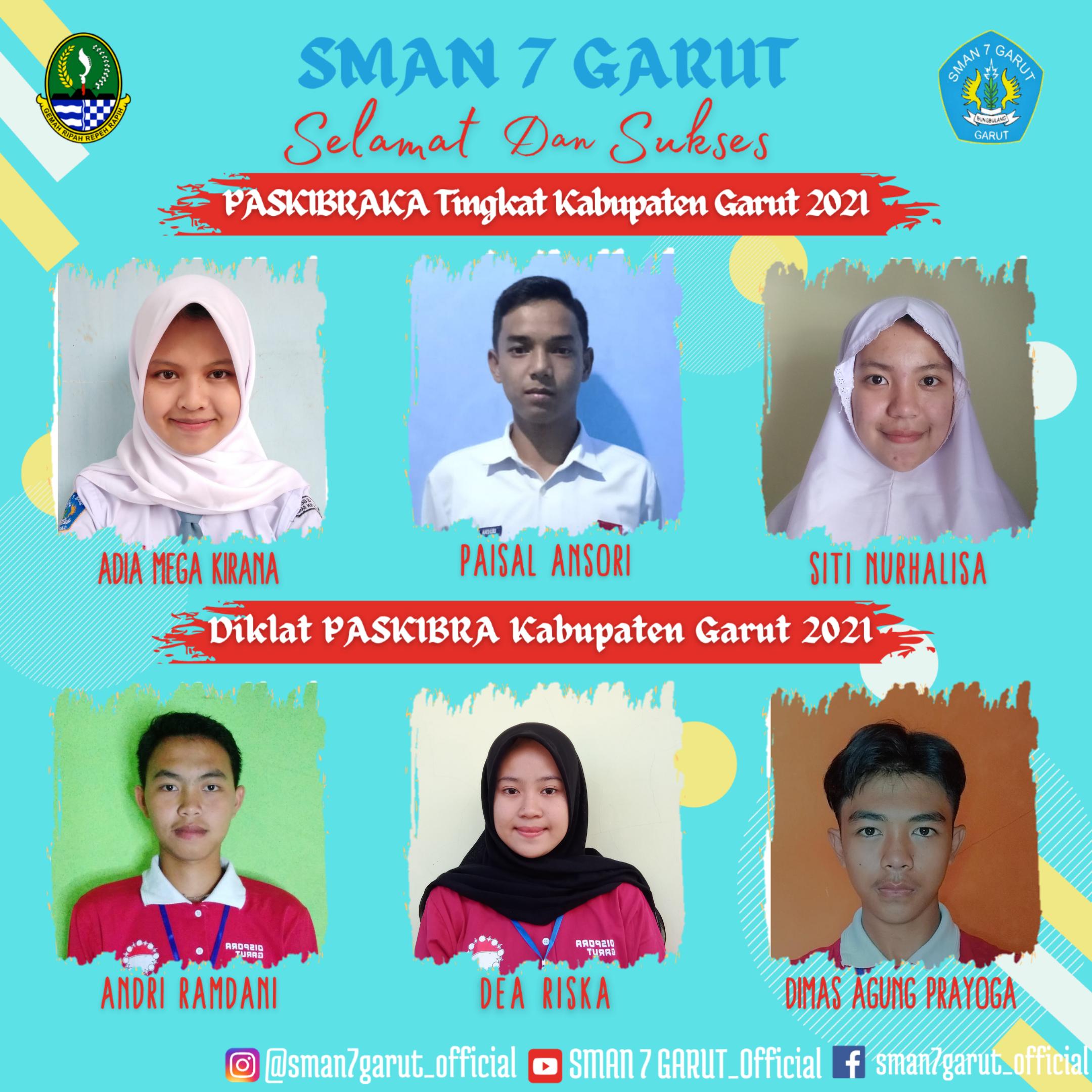 Alhamdulillah 3 Peserta Didik dari SMAN 7 GARUT Lulus Sebagai PASKIBRAKA Tingkat Kabupaten Garut pada tahun 2021