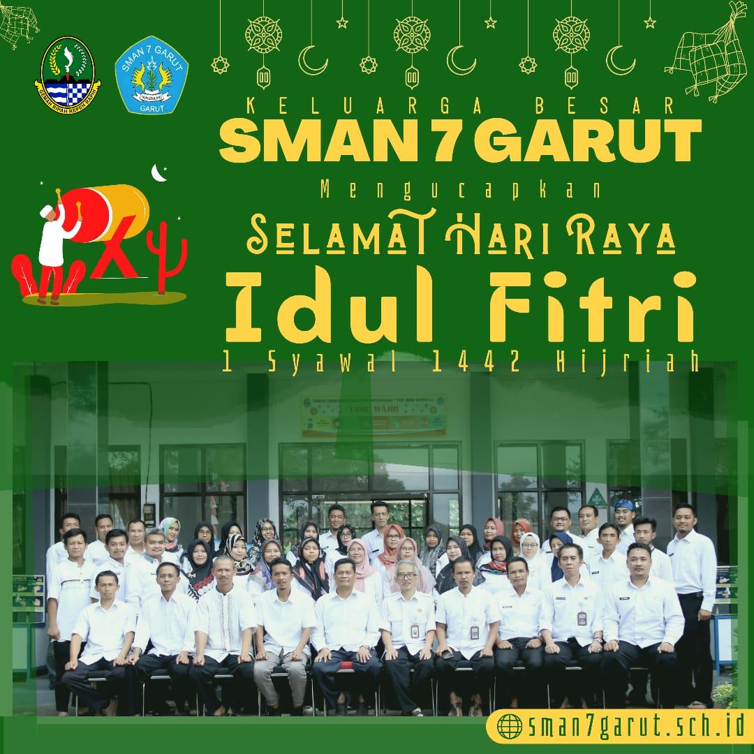 Keluarga Besar SMAN 7 Garut Mengucapkan Selamat Hari Raya Idul Fitri 1442 H